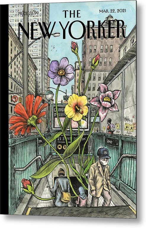 Spring Metal Print featuring the painting Springing Back by Ricardo Liniers