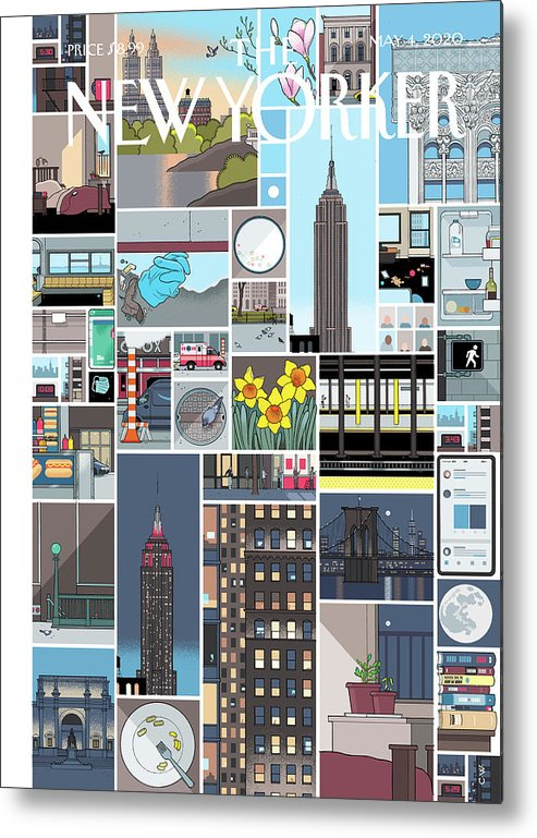 City Metal Print featuring the digital art Still Life by Chris Ware