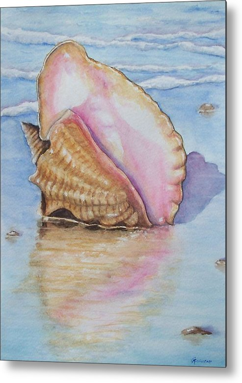 Marine Metal Print featuring the painting Summer Shell by Conni Reinecke