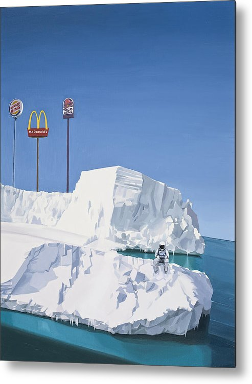 Astronaut Metal Print featuring the painting The Iceberg by Scott Listfield