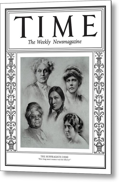 Time Metal Print featuring the photograph The Suffragists, 1920 by Illustration by Amaya Gurpide for TIME