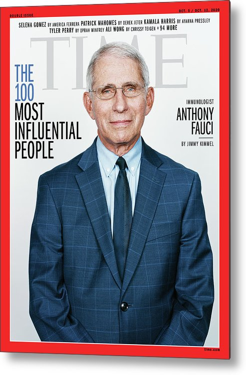 Time 100 Most Influential People Metal Print featuring the photograph TIME 100 - Anthony Fauci by Photograph by Stefan Ruiz for TIME