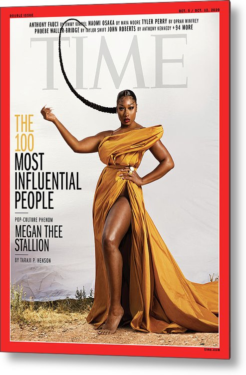 Time 100 Most Influential People Metal Print featuring the photograph TIME 100 - Megan Thee Stallion by Photograph by Dana Scruggs for TIME