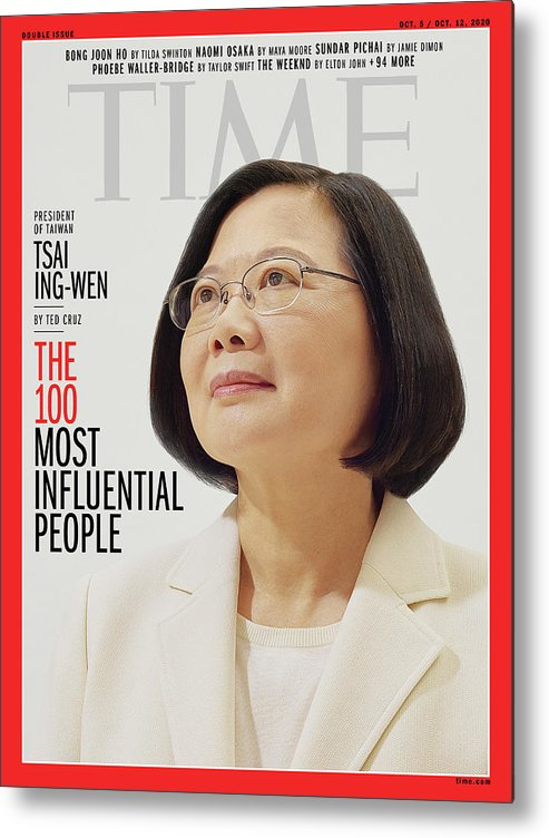 2020 Time 100 Metal Print featuring the photograph TIME 100 - Tsai Ing-Wen by Photograph by Nhu Xuan Hua for TIME