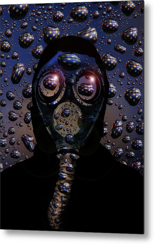 Mask Metal Print featuring the digital art Viral America by Jim Painter