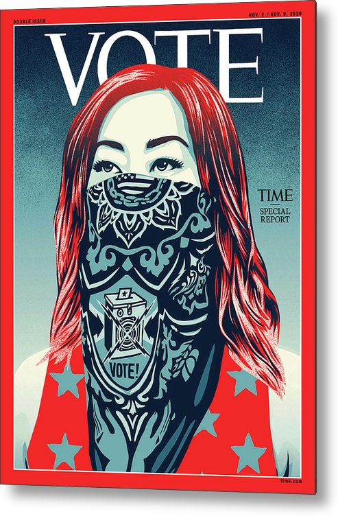 2020 Us Presidential Election Metal Print featuring the photograph Vote 2020 by Illustration by Shepard Fairey for TIME