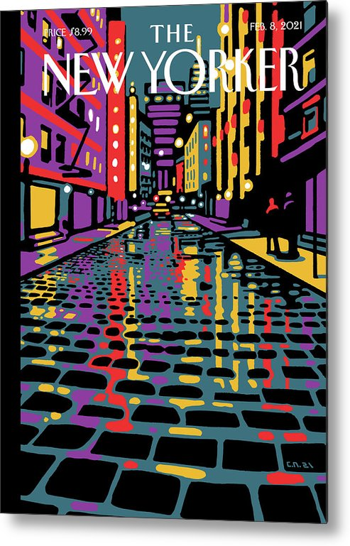 New York City Metal Print featuring the painting Wooster Street by Christoph Niemann