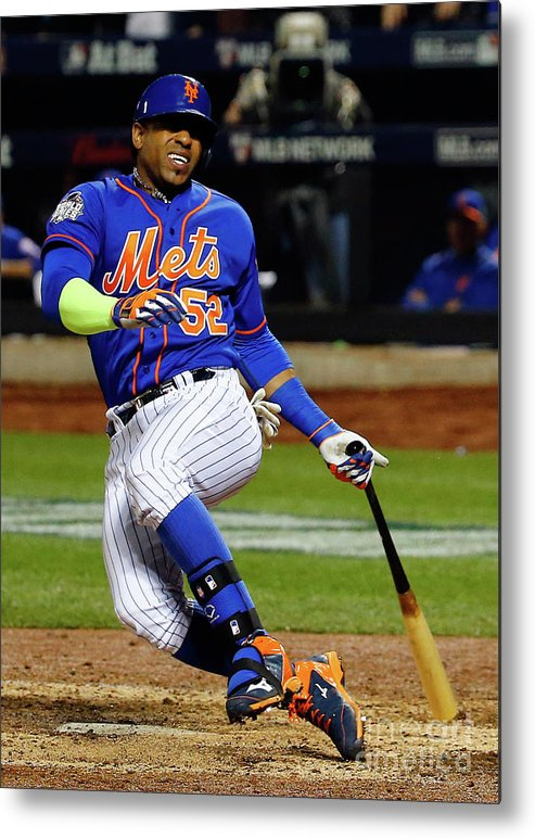 Yoenis Cespedes Metal Print featuring the photograph Yoenis Cespedes by Al Bello