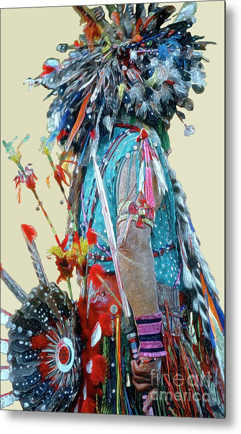 Indians Metal Print featuring the photograph Waiting to Dance by Linda Parker