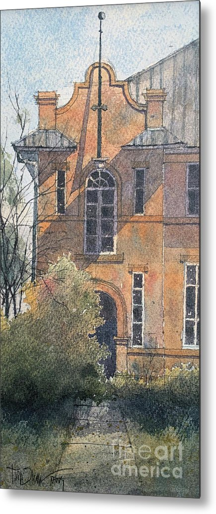 Metal Print featuring the painting Old Rowena School by Tim Oliver