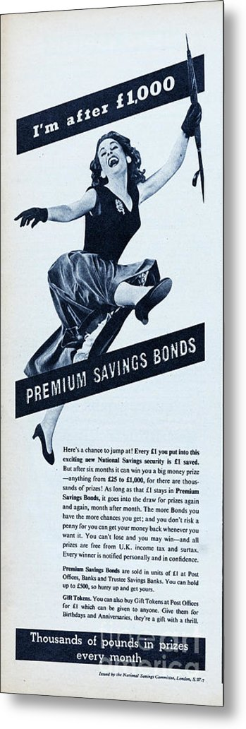 People Metal Print featuring the photograph Premium Bonds by Picture Post