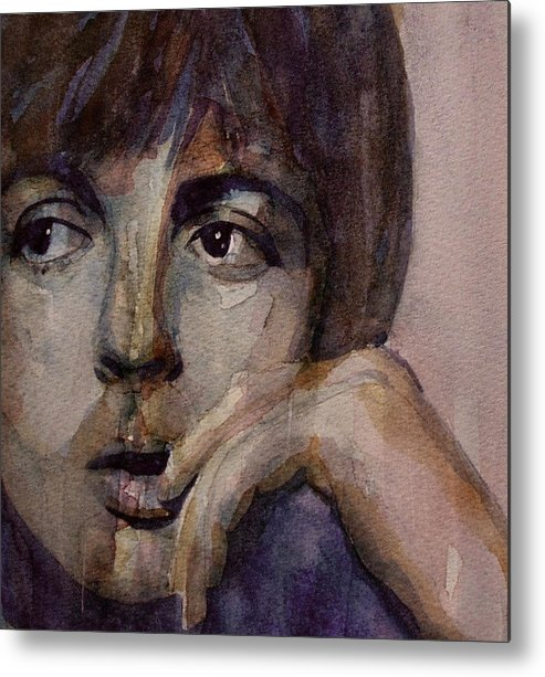 Paul Mccartney Metal Print featuring the painting Yesterday by Paul Lovering