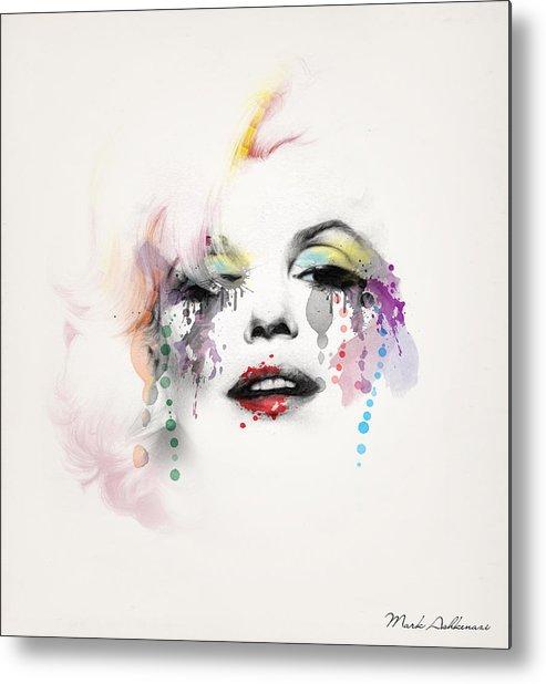 Pop Art Metal Print featuring the painting Marilyn Monroe by Mark Ashkenazi