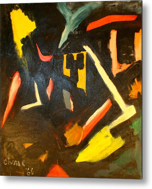 Metal Print featuring the painting Abstract Houses by Biagio Civale