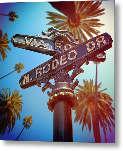 Beverly Hills Metal Print featuring the photograph Beverly Hills California by Lpettet