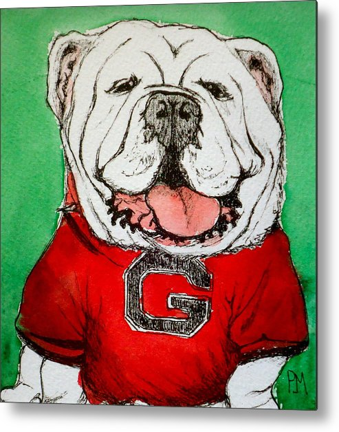 English Bulldog Metal Print featuring the painting G Dawg by Pete Maier
