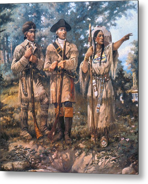 1805 Metal Print featuring the painting Lewis And Clark, 1805 by Granger