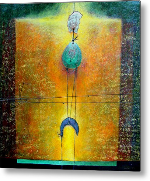 Abstract Metal Print featuring the painting Memory by Dale Witherow