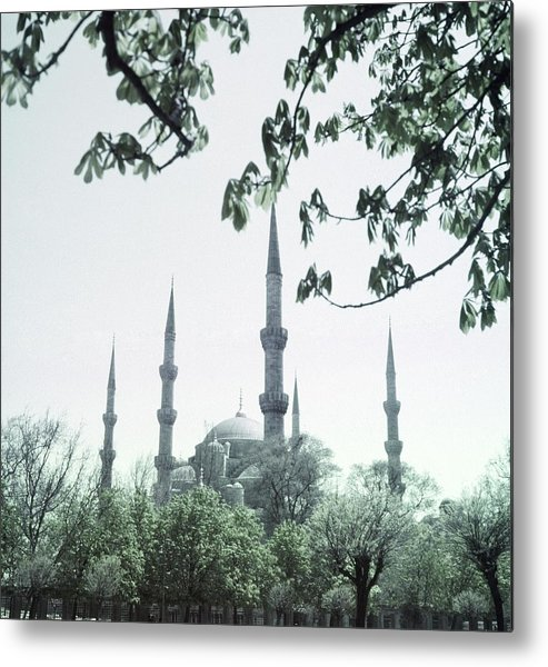 Turkey Metal Print featuring the photograph Mosque Behind Trees In Turkey by Horst P. Horst