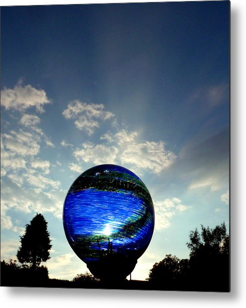 Skyscape Metal Print featuring the photograph Orb On Sky by Baato