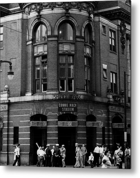 Retro Images Archive Metal Print featuring the photograph Outside Connie Mack Stadium by Retro Images Archive