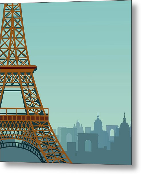 Built Structure Metal Print featuring the digital art Paris by Drmakkoy