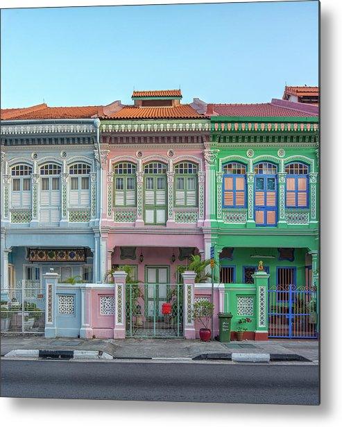 Tranquility Metal Print featuring the photograph Peranakan Architecture by Edward Tian