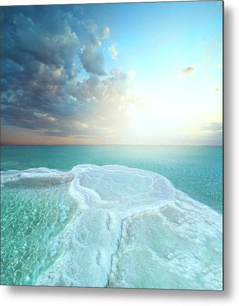Mineral Metal Print featuring the photograph Salt Field In Dead Sea by Dtokar