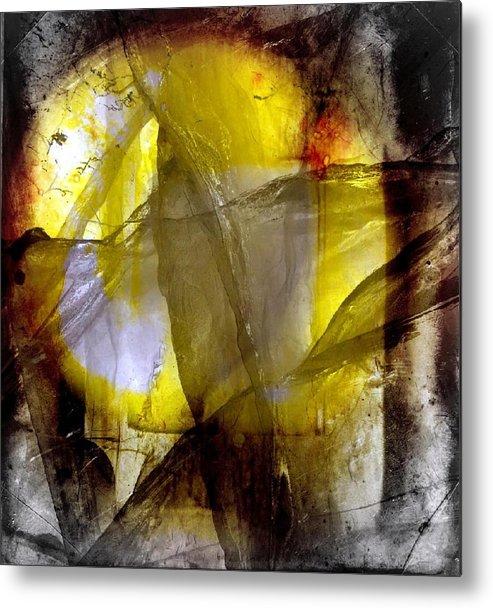 Abstract Metal Print featuring the digital art Kiss of the sun by Joseph Ferguson