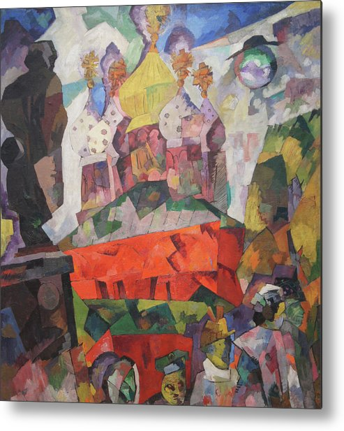 Aristarkh Lentulov Metal Print featuring the painting Tverskoy Boulevard by Aristarkh Lentulov