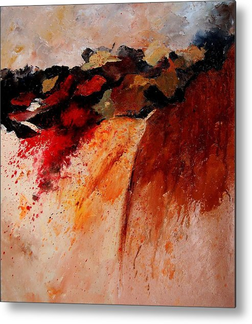 Abstract Metal Print featuring the painting Abstract 010607 by Pol Ledent