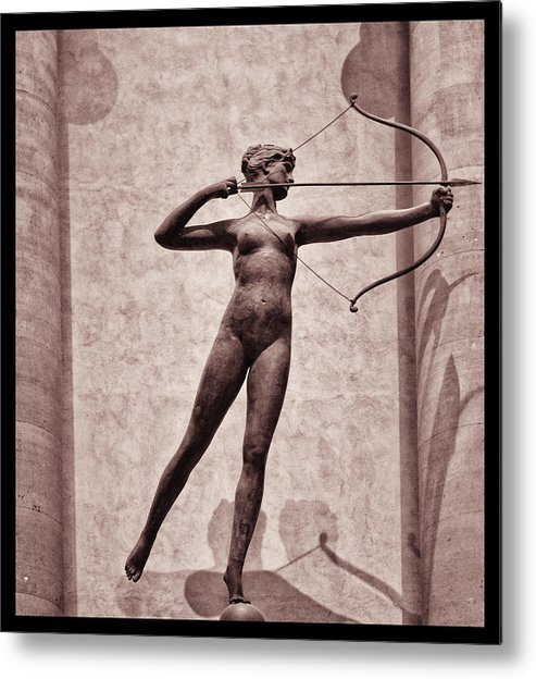 Madison Square Garden Metal Print featuring the photograph Diana - Goddess Of Hunt by Bill Cannon