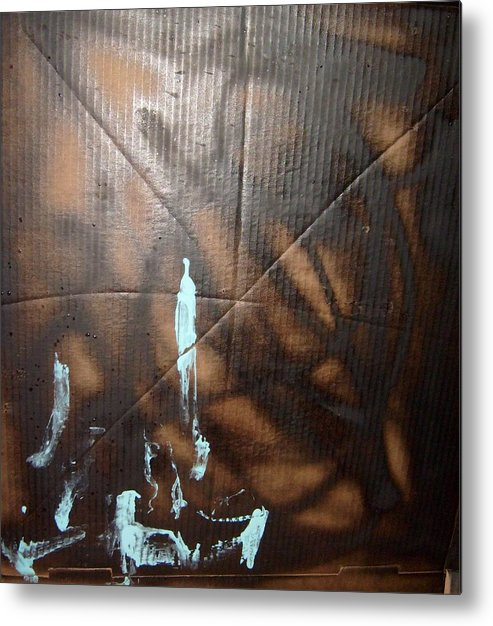 Dark Metal Print featuring the painting For Animals and People Without Electricity by Bruce Combs - REACH BEYOND