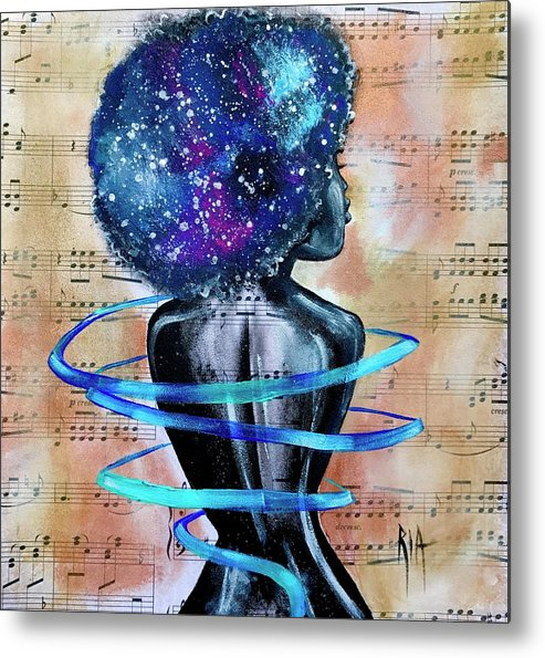 Space Metal Print featuring the painting I am her... She is Me by Artist RiA