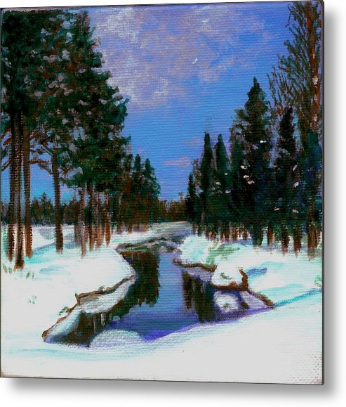 Snow Metal Print featuring the painting Lapland by Marina Owens