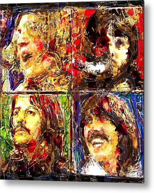 The Beatles Metal Print featuring the digital art Let it Be by Russell Pierce