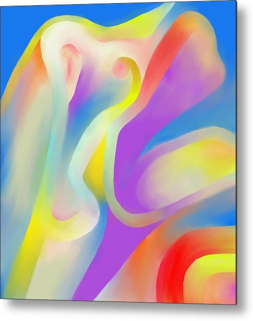 Colorful Metal Print featuring the digital art Mingling by Peter Shor
