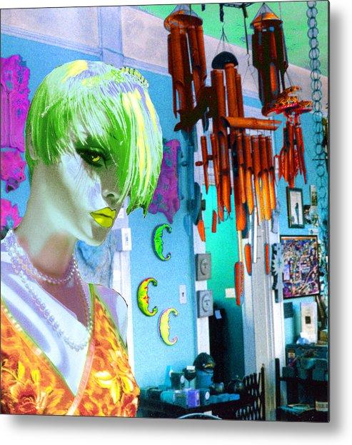 Woman Metal Print featuring the digital art New by Sarah Crumpler