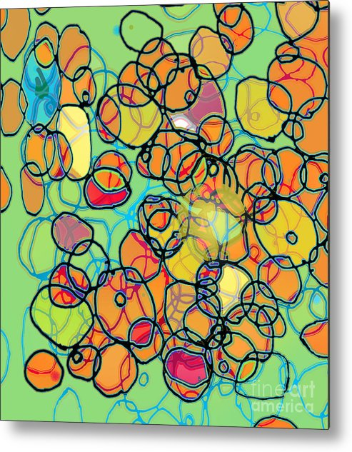 Cell Metal Print featuring the digital art Random Cells 5 by Andy Mercer