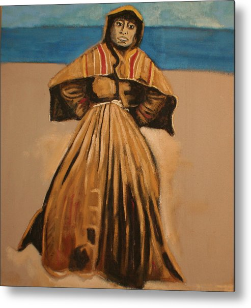 Metal Print featuring the painting Witch by the sea by Biagio Civale