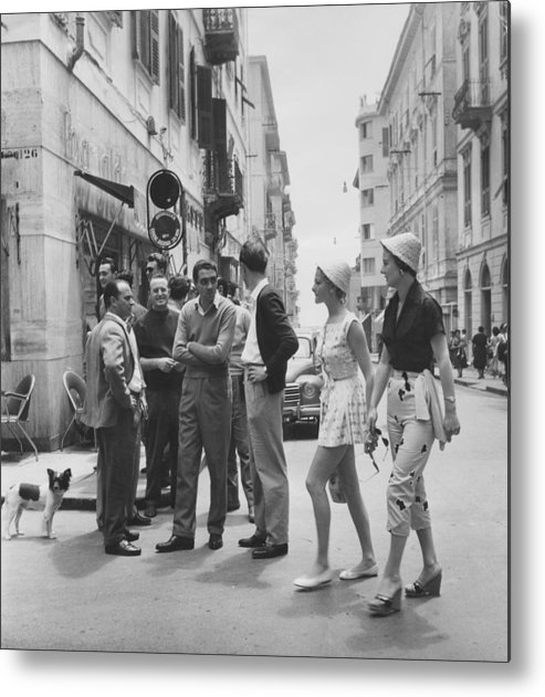 Straw Hat Metal Print featuring the photograph Models On Holiday by Bert Hardy