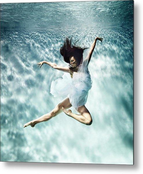 Ballet Dancer Metal Print featuring the photograph Underwater Ballet by Henrik Sorensen