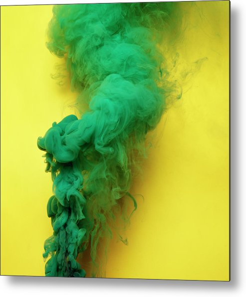 Motion Metal Print featuring the photograph Colored Smoke by Henrik Sorensen