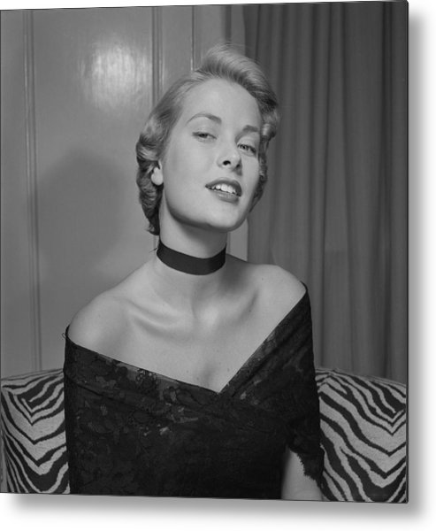 Artist Metal Print featuring the photograph Grace Kelly Portrait Session by Ed Vebell