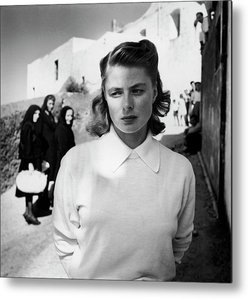 Timeincown Metal Print featuring the photograph Actress Ingrid Bergman Attracting by Gordon Parks