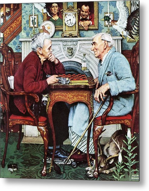 April Fools Metal Print featuring the drawing April Fool, 1943 by Norman Rockwell