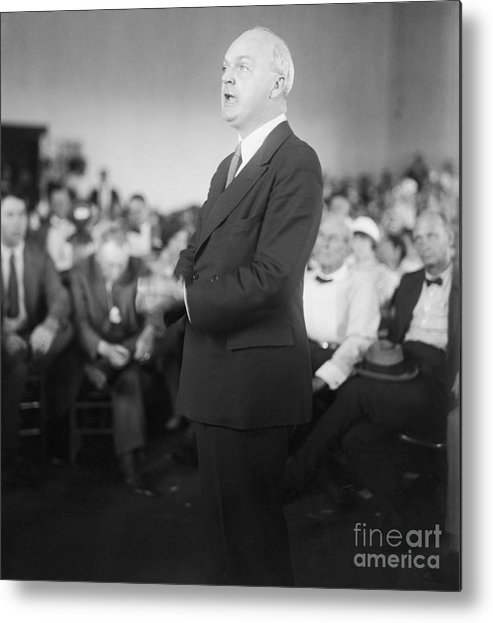 People Metal Print featuring the photograph Dudley Field Malone Delivering Speech by Bettmann