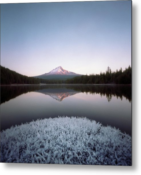 Scenics Metal Print featuring the photograph Mt. Hood Lit By Sunrise by Wendi Andrews