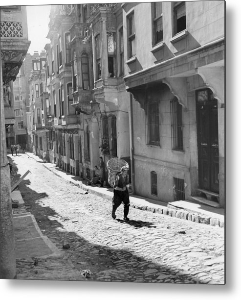 Istanbul Metal Print featuring the photograph Red Light District by George Pickow
