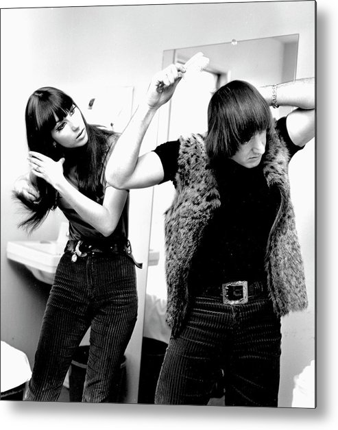 Event Metal Print featuring the photograph Sonny & Cher Portrait Session by Michael Ochs Archives